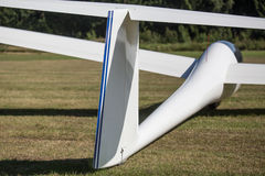 Sailplane on an airfield Royalty Free Stock Photography