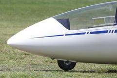 Sailplane on an airfield. An plain sailplane on an airfield Stock Photos