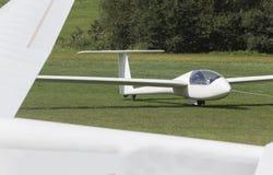 Sailplane on an airfield. An plain sailplane on an airfield Royalty Free Stock Photos