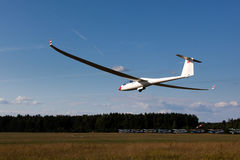 Sailplane on final glide Royalty Free Stock Image