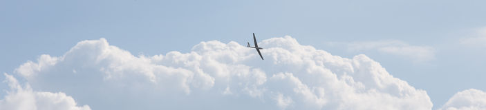 Sailplane flying Royalty Free Stock Photography