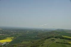 Sailplane glidflygplan i flykten Arkivfoto