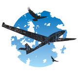 Sailplane grunge icon Royalty Free Stock Photography