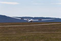 sailplane szybowiec na południowym Germany lotnisku Fotografia Stock