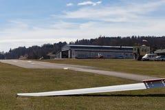 sailplane szybowiec na południowym Germany lotnisku Zdjęcia Stock