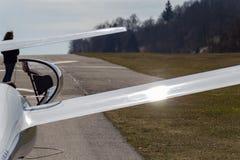 sailplane szybowiec na południowym Germany lotnisku Zdjęcie Royalty Free