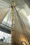 Sails. Ancient sails of a sailing ship Royalty Free Stock Photography