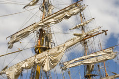 Sails. And masts of the classic sailing Royalty Free Stock Photography