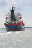 She Sails. Ship in route, Galveston, TX stock image