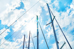 Sails against sky and sun Royalty Free Stock Image