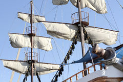 Sails Of An Antique Ship Royalty Free Stock Photography