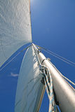 Sails in the blue sky Royalty Free Stock Photos