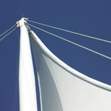 Sails and blue sky Royalty Free Stock Image