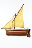 Sails boat model Stock Photography