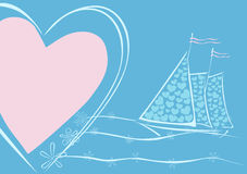 Sails of love. A simple romantic illustration. /eps8 Stock Photography