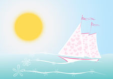 Sails of love Royalty Free Stock Image