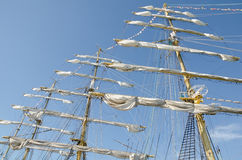Sails on the masts Royalty Free Stock Image