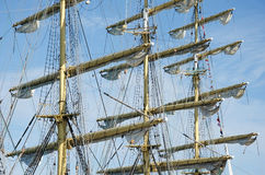Sails on the masts Stock Photos