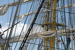 Sails on the masts Stock Images