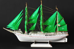 Sails model ship Stock Images