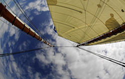 Sails Overhead And Sky Royalty Free Stock Photography