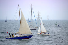 Sails Parade Stock Photo