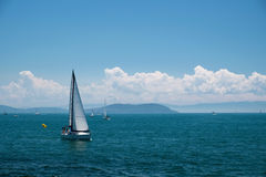 Sails and The Prince Islands Royalty Free Stock Photo
