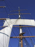 Sails and rigging on masts Stock Photography