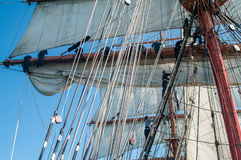 Sails and rigging Stock Images