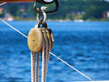 Sails Ropes Pulley Stock Images