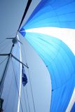 Sails. On a sail boat stock image