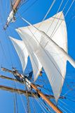 Sails on sailboat royalty free stock images