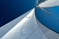 Sails of a sailing yacht in the wind Stock Photos