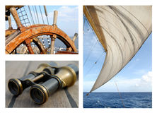 Sails and the sea Royalty Free Stock Photo