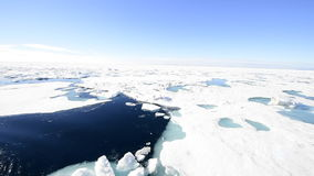 Sails through the sea ice in the Arctic. The ship sails through the sea ice in the Arctic stock video