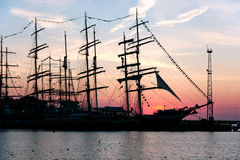 Sails on sunset Royalty Free Stock Photography