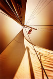 Sails in sunset light Stock Photography