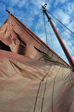 Sails of a Traditional Dutch Barge Design Ship Royalty Free Stock Photography
