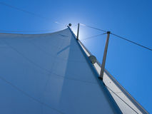 Sails in the wind in Croatia Royalty Free Stock Photo