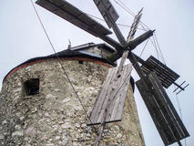 Sails of a windmill. The sail part of an old windmill Royalty Free Stock Images