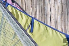 Sails of windsurf Stock Photos