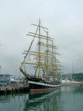 Sailship  Kruzenshtern  in port of  Sochi. Stock Photography