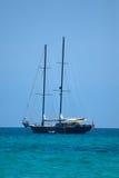 Sailship op het overzees Stock Foto's