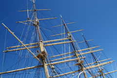 Sailship's masts Stock Photography