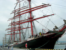 Sailship  Sedov  in port of  Sochi Royalty Free Stock Photography