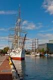 2 sailships в гавани Стоковая Фотография