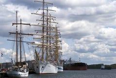 Sailships y petrolero Fotografía de archivo
