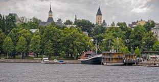 Saimaa e porto e cidade de Lappeenranta Fotografia de Stock