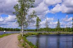 Saimaa kanal royaltyfria foton