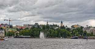 Saimaa and Lappeenranta harbor and town Royalty Free Stock Photography